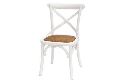 כסא אוכל לבן דגם איקס