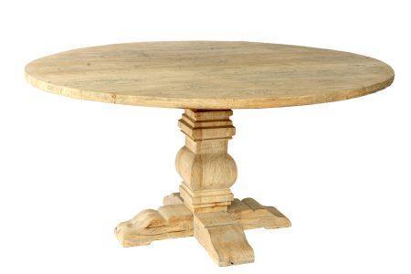 שולחן אוכל עגול מעץ