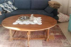 שולחן גינה עגול ברזל