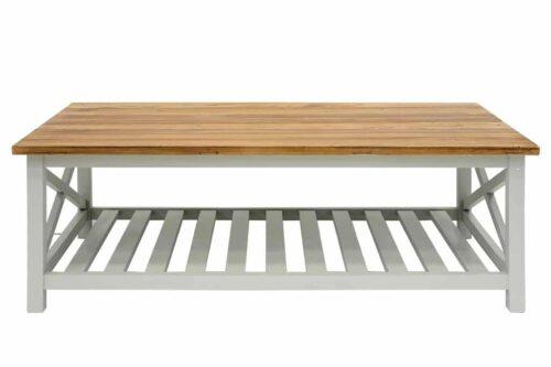 שולחן סלון גדול מעץ אפור