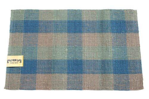 שטיח חבל משובץ כחול