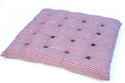 כרית מושב פסים אדום לבן