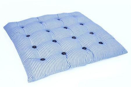 כרית מושב פסים כחול לבן