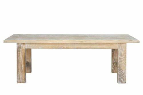 ספסל מעץ מולבן