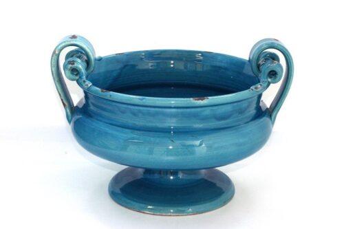 כד מעוצב בצבע כחול