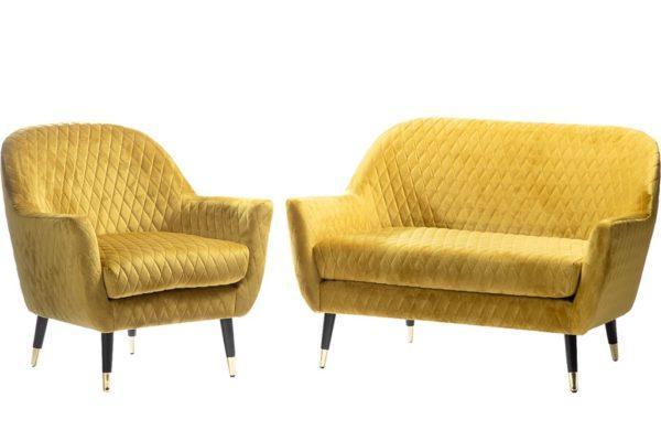 כורסאות צהוב חרדל