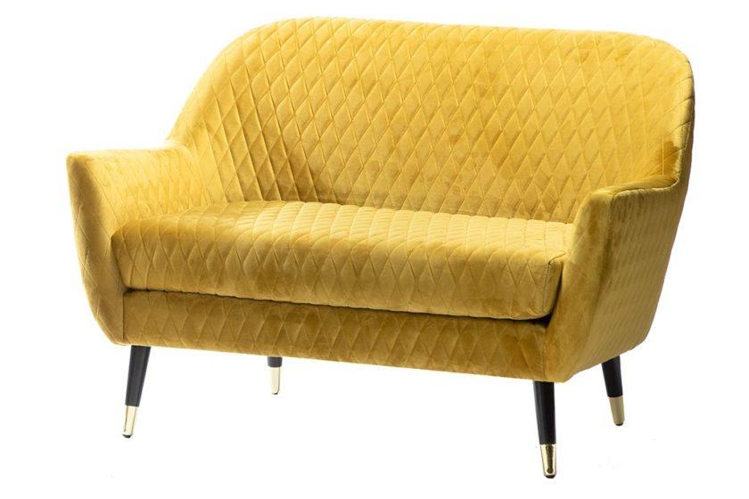 ספה דו חרדל לסלון