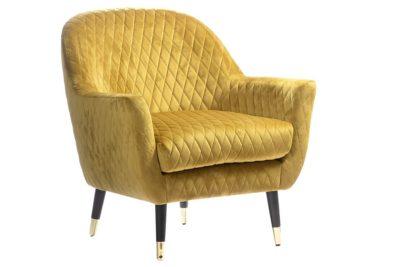 כורסא בצבע צהוב חרדל