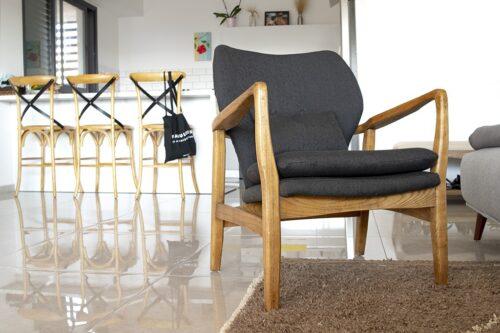 כורסא בסגנון רטרו
