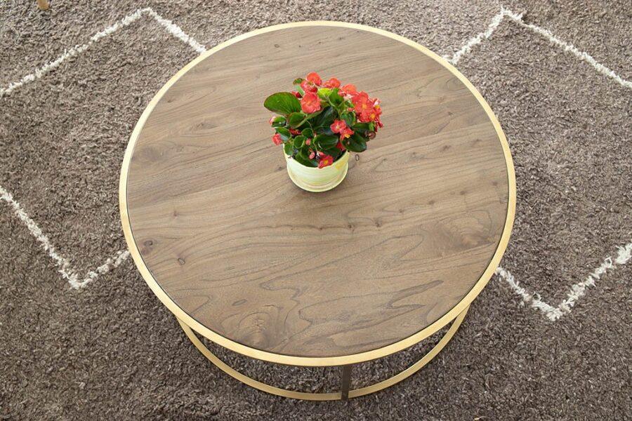 שולחן סלון עגול ומעוצב