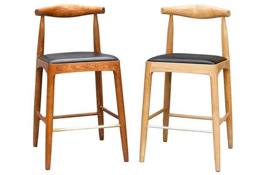 כסאות בר מעוצבים עם משענת