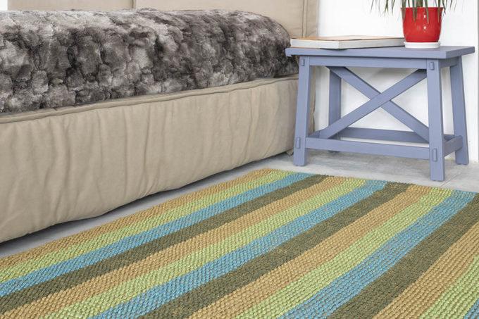 שטיח חבלים אורגני צבעוני
