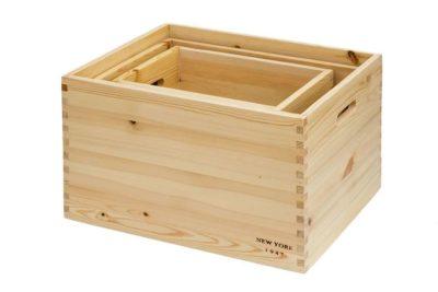 ארגזים מעץ מלא לאחסון