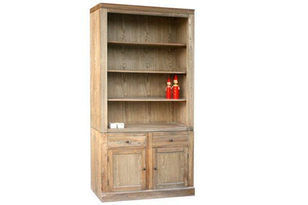 ארון ספרים מעץ מלא