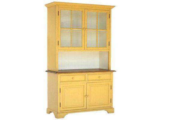 ארון ויטרינה צהוב חרדל