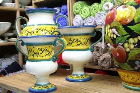 גביעים גדולים מקרמיקה מצוירים