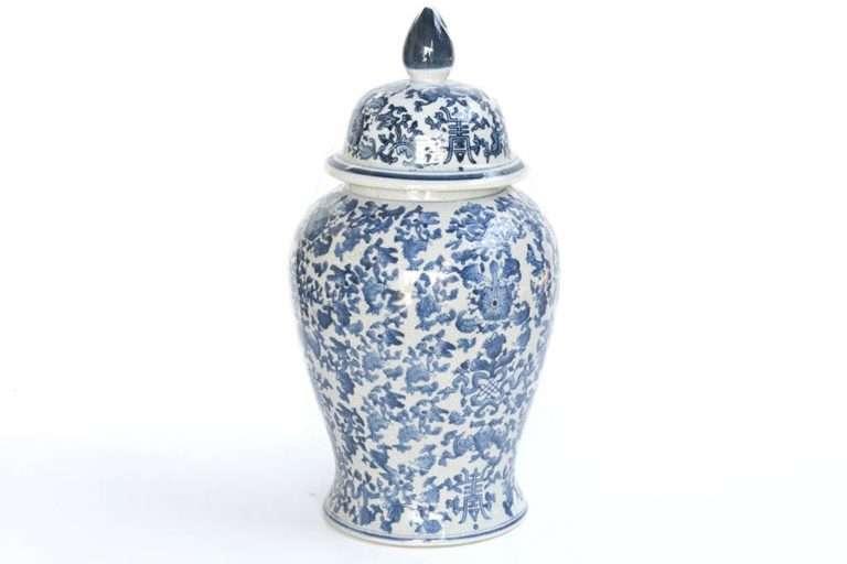 כד קרמיקה סיני כחול לבן
