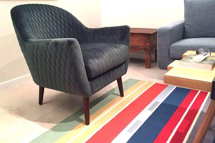 כורסא ירוק יער לסלון