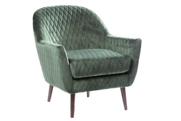 כורסא ירוק יער מעוצבת
