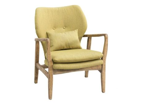 כורסא רטרו צהובה