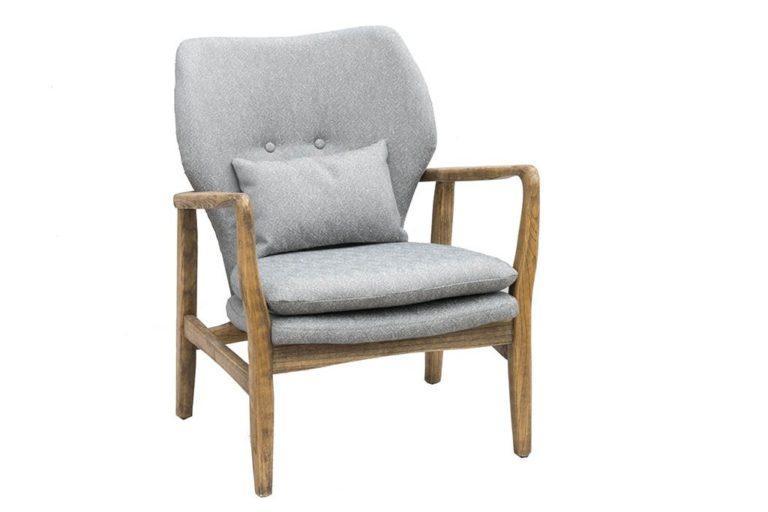כורסא רטרו אפורה