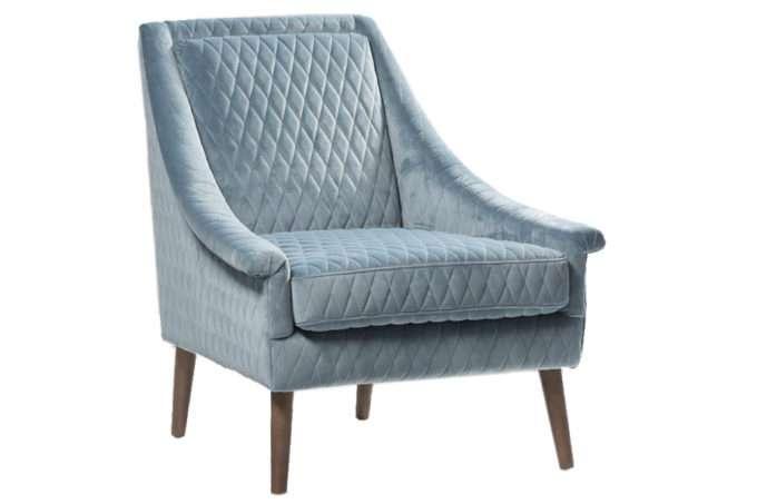 כורסא תכלת לסלון