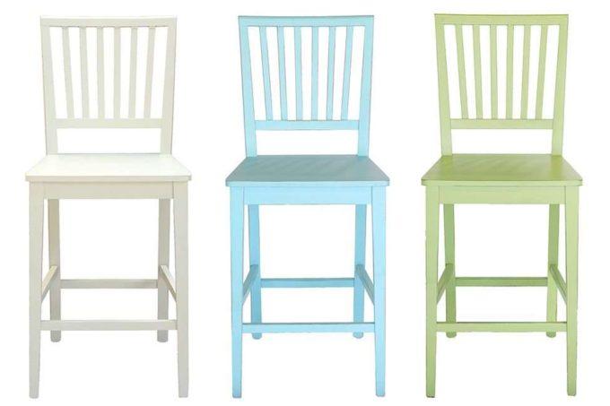 כיסאות בר עם משענת