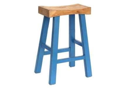 כיסא בר עץ גושני מלא