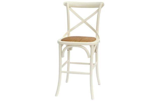 כיסא בר שמנת עם משענת