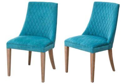 כסאות אוכל מרופדים בד