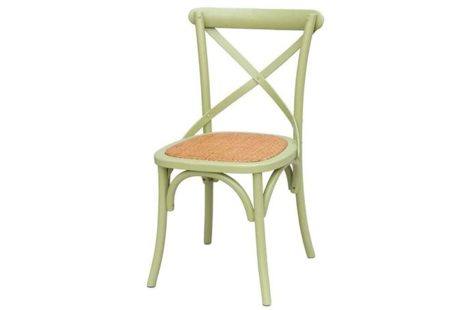 כסא עץ ירקרק דגם קרוס