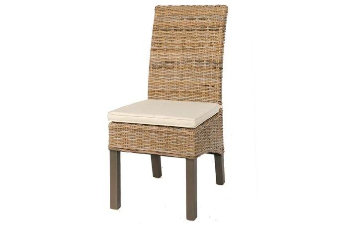 כסא אוכל ראטן לגינה