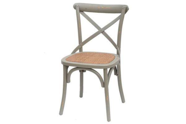 כסא אפור מעץ איקס