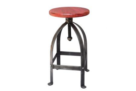 כסא בר ברזל אדום