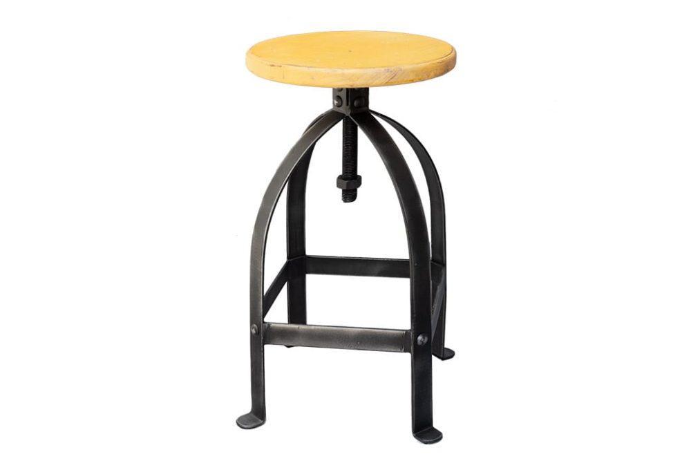 כסא בר ברזל צהוב