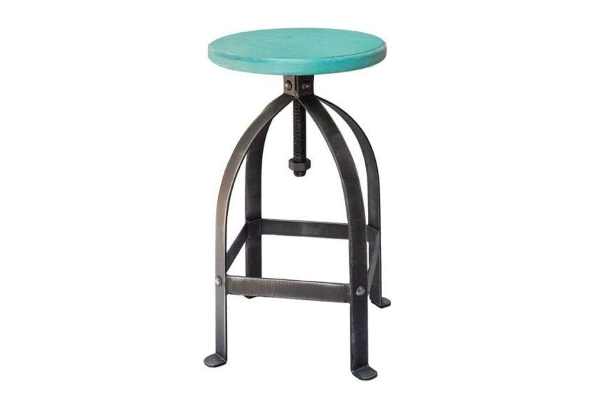 כסא בר ברזל טורקיז