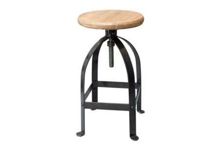 כסא בר ברזל טבעי