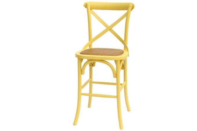 כסא בר בצבע חרדל