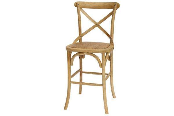 כסא בר חום עם משענת
