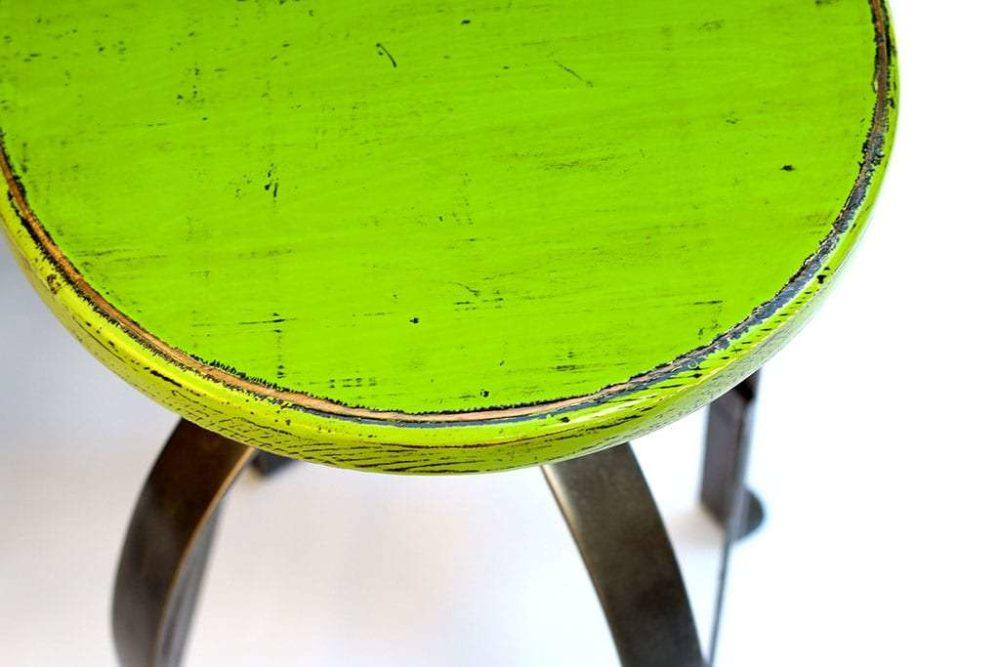 כסא בר ירוק תקריב
