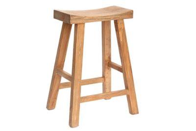 כסא בר מעץ מלא