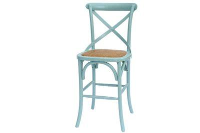 כסא בר תכלת עם משענת