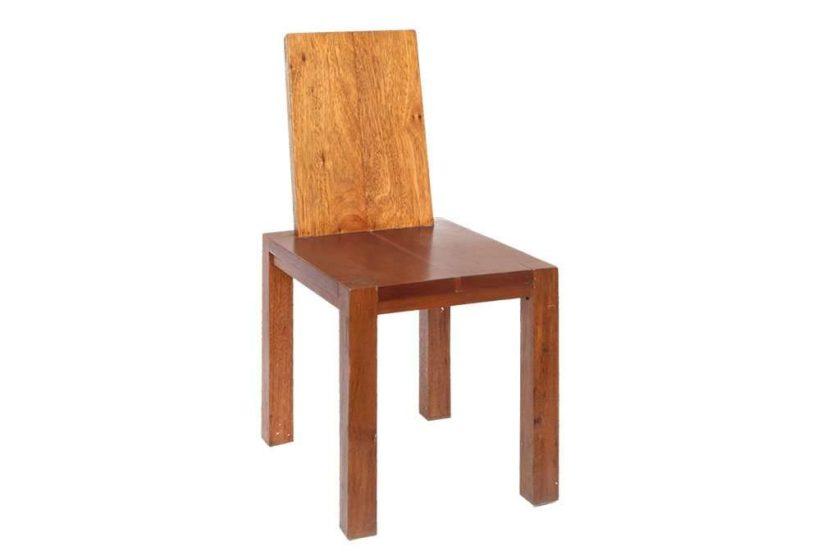 כסא אוכל מעץ טיק