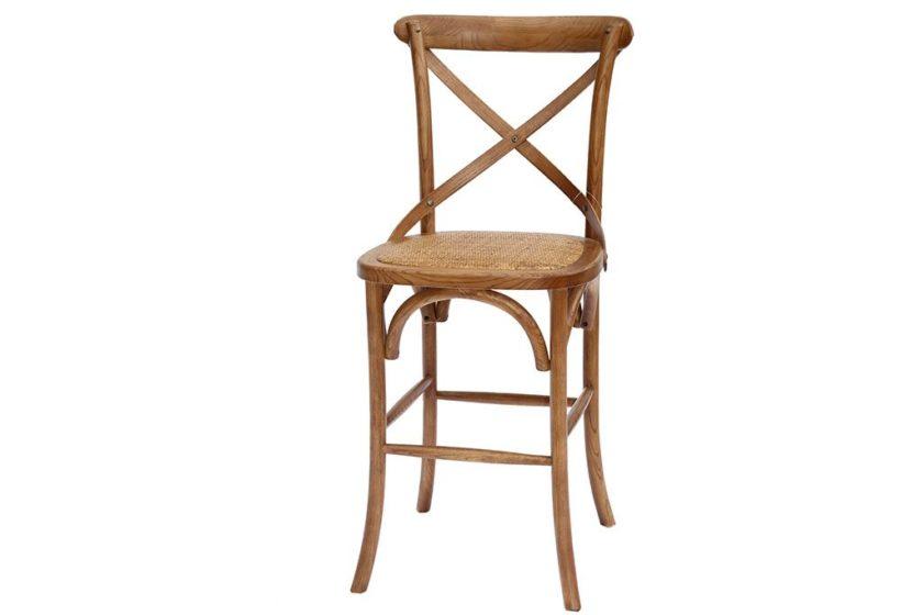 כסא מעץ מלא עם משענת