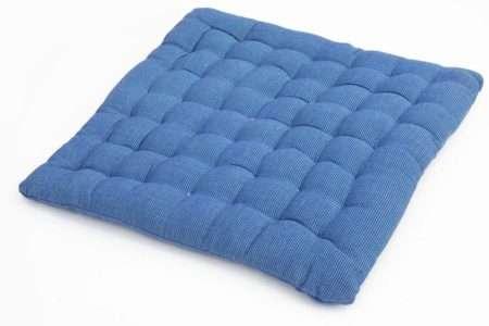 כרית מושב כחולה מבד