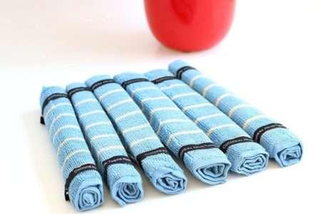 מגבות אורחים כחולות