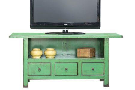 מזנון טלוויזיה ירוק