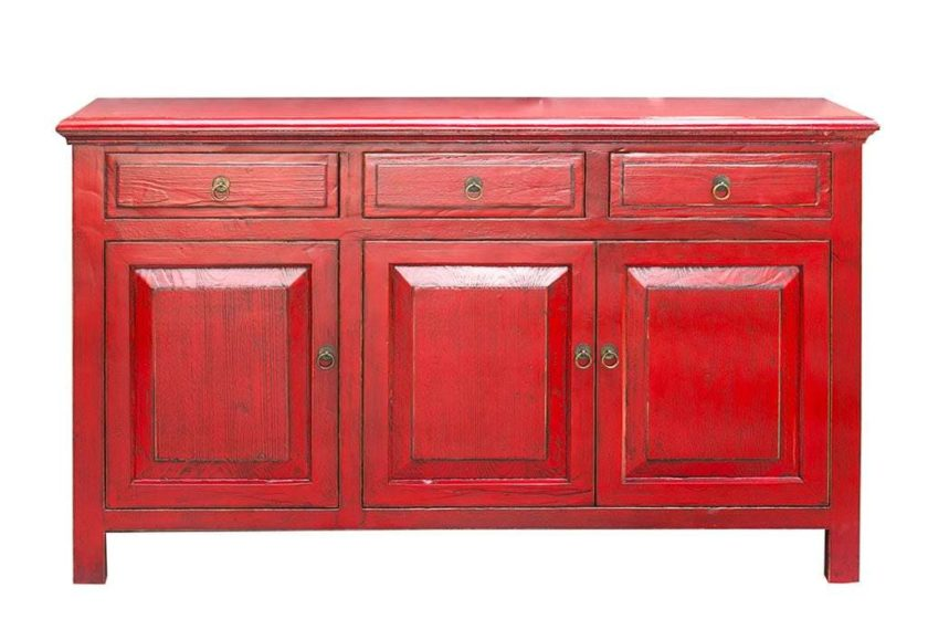 מזנון עץ צבע אדום