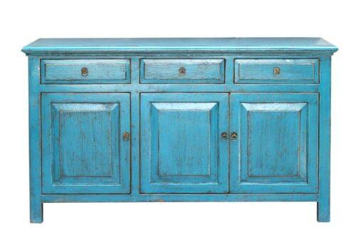 מזנון עץ צבע כחול