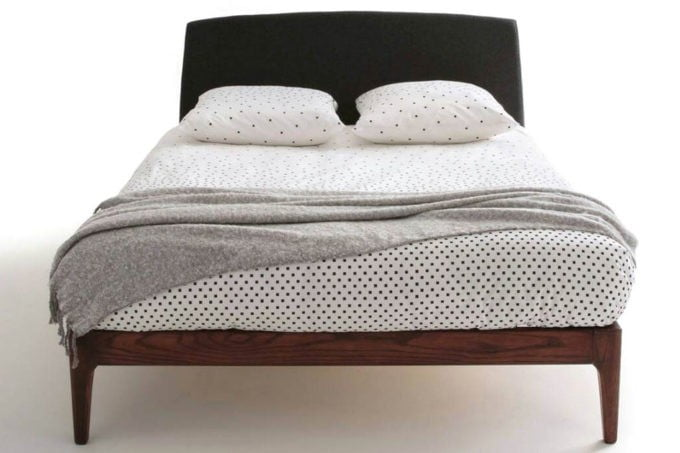 מיטה זוגית ראש מרופד גב
